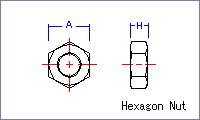 Hexagon Nut [metric] Drawing